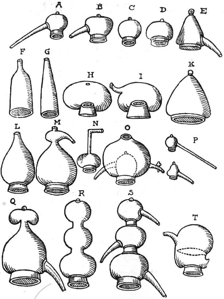 Images of alchemical apparatus
